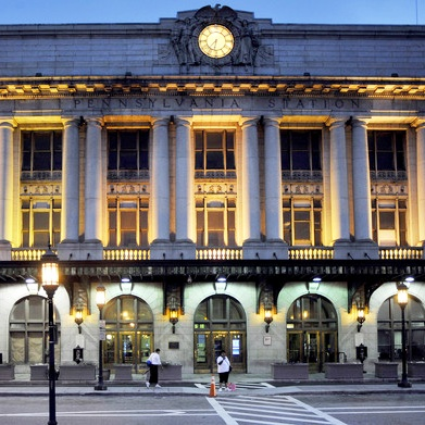 BMC Services installed (4) 60' overhead infrared heaters in  Washington D.C. at  Amtrak's Union Station
